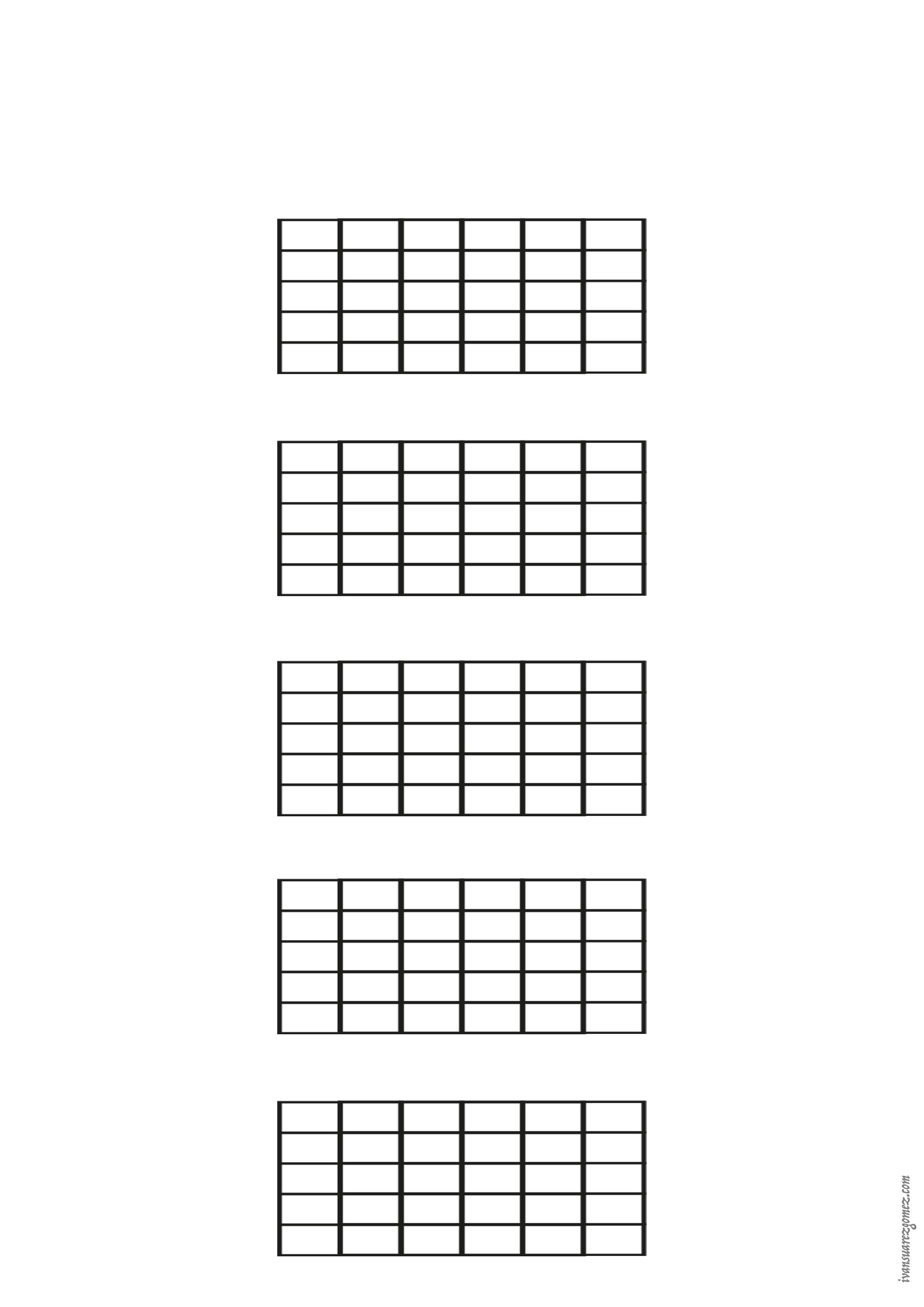 Guitar - 5 white box